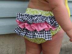 houndstooth diaper ruffle cover