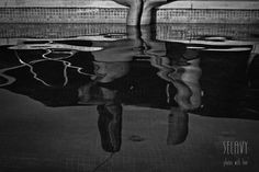 Reflection #pregnancy #blackandwhite #love #summer #swimmingpool