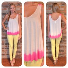 """Available on the SHOP tab! """"Fun Dips Tank - Pink"""""""