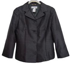 DOLCE & GABBANA Womens Blazer Jacket Silk Black Size 44 US 8 #DolceGabbana #Blazer