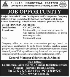 Manager Procurement Business Development Faisalabad  Jobs