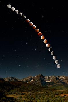 Complete lunar eclipse