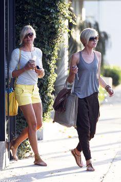 Cameron Diaz and Portia de Rossi Make a Salon Date... their clothes!