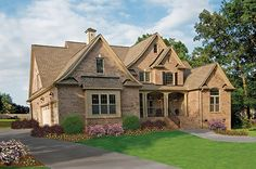Plan #1204 - The Rochelle www.dongardner.com - Old-World style meets modern-day comfort. #DreamHome #HousePlans #FutureHome