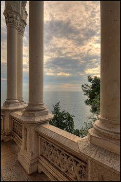 Miramare Castle, Bay of Grignano, Trieste, Italy