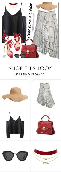 """""""Off-Shoulder Tops"""" by oshint ❤ liked on Polyvore featuring Old Navy, Prada and Charlotte Russe"""