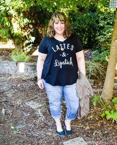 Today on the blog, Hailey reviews this JCPenney's Boutique+ Graphic Tee, styled for a sunny fall day.- DivineMrsDiva.com #JCpenney #Boutique+ #Crocs #Torrid #TorridInsider #LaneBryant #LaneStyle #psblogger #plussizeblogger #styleblogger #plussizefashion #plussize #psootd #fall #style #plussizecasual