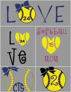 A personal favorite from my Etsy shop… Volleyball Mom Shirts, Softball Crafts, Softball Bows, Baseball Mom Shirts, Girls Softball, Fastpitch Softball, Softball Pitching, Softball Shirt Ideas, Senior Softball