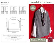 A maddy laine knitting pattern that combines easy-to-knit comfort and stylish shaping to create a sweater vest that will flatter you and anything in your wardrobe.