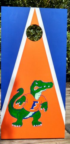 Hand painted custom cornhole boards games. No vinyl. University of Florida Gators Bag toss tail gaiting gift ideas party ideas