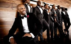 Beautiful Brown Brides: Brown Groomsmen All Dressed up and Smellling Good!