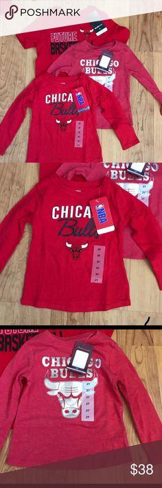 db780fa9bfb0f4 NBA kids Chicago NBA kids Chicago Bulls size 2T bundle for girls NBA Shirts    Tops