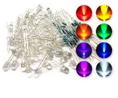 microtivity 5mm Assorted Clear LED w/ Resistors (8 Colors, Pack of 80) details and prices. Contains 80 LEDs of 8 kinds. (Clear Red, Orange, Yellow, Green, Blue, White, Pink and Violet). Comes with more-than-enough 1/4-watt 200 ohm resistors for making connections. Great for electronic and electrical experiments.