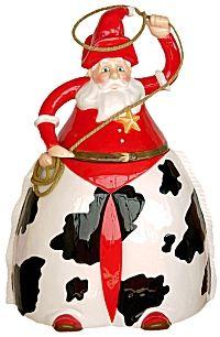 Christmas Cowboy Santa Claus Cookie Jar Christmas Cookie Jars, Holiday Cookies, Kinds Of Cookies, Cute Cookies, Western Christmas, Country Christmas, Almond Sugar Cookies, Peanut Blossoms, Teapot Cookies
