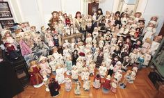 Almost every inch of the 52-year-old Kathy Libraty's New York home is filled with her enormous hoard of figures which she has been collecting for over 25 years.