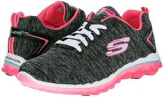 Skechers Sport Women Skech Air Run High Fashion Sneaker Black/Hot Pink Size 6.5 #Skechers #BlackHotPink