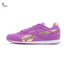 Reebok Royal Cljog 2rs, Chaussures de Sport Fille - Violet - Violet (Vicious Violet/Gold), 32 EU