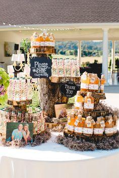 Summer Weddings:  Moonshine Wedding Favors  Lloyd/Hines Wedding 2015  #Wedding Favor Decor, #Apple Pie Moonshine #Get Your Shine On