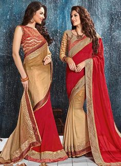 Intrinsic Red Classic Designer Saree
