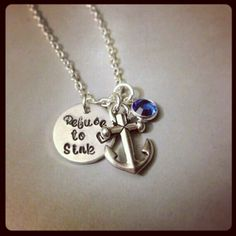 """""""Refuse to sink"""" necklace via Etsy"""