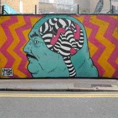 His name is Insa and he is a graffiti artist, but not the regular graffiti guy, his art is somehow animated. He paints the walls in 3 – 4 layers and then brings the images together. The result is Gif-fiti and can only be observed online. His walls are moving. A truly unique and amazing idea from Insa.  Enjoy!