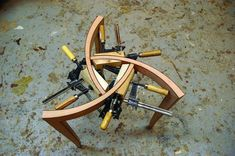 Three-legged Occasional Table | Popular Woodworking Magazine Mortise Jig, Drill Jig, Plunge Router, Table Saw Jigs, Baltic Birch Plywood, Miter Saw, Woodworking Magazine, Popular Woodworking, Concave