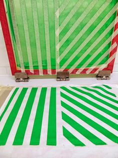 Simple screen printing with masking tape - can make great panels for cushions!