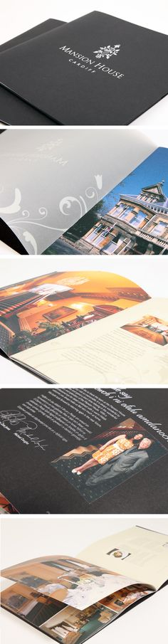 Brochure design - Mansion House, Cardiff by Octopus Creative Design, via Behance