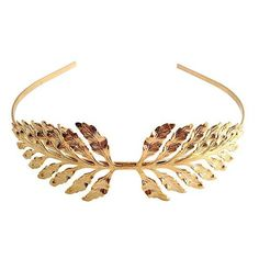 Tuleste FERN HEADBAND ($135) ❤ liked on Polyvore featuring accessories, hair accessories, jewelry, headbands, hair, gold, headband hair accessories, head wrap hair accessories, black headwrap and embellished headbands