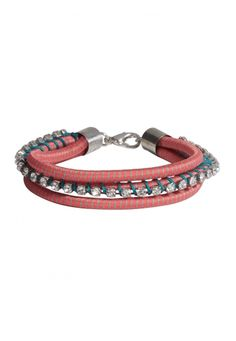 Coral bungee bracelet (original price, $10) available at #Maurices
