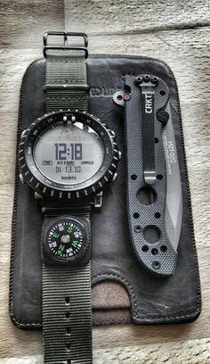 Suunto core edc kit #menatworkcomms #survival #outdoors. Check out that cool T-Shirt here: https://www.sunfrog.com/I-love-my-firefighter-Black-Ladies.html?53507