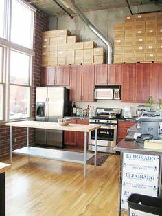 industrial chic loft kitchen
