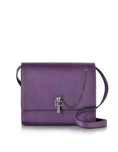 2c4d30603b85 Carven Malher Violet Grained Leather Crossbody Bag