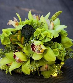 Bridal+Bouquets+and+Wedding+Flowers:+Bouquet+with+green+orchids