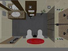 Vista aérea banheiro