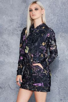 Planisphere Black Slouchy - LIMITED ($150AUD) by BlackMilk Clothing: