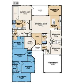 Homes multi generational on pinterest floor plans for Multi generational home designs