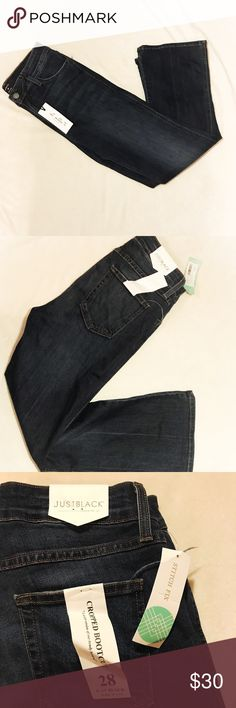 Stitch Fix Just Black Jeans Women's Stitch Fix Just Black cropped bootcut jeans.  Size 28.  Condition: New with tags.  Total Length: 36.5 in.  Inseam: 26 in.  Waist: 14 in. Stitch Fix Just Black Jeans Ankle & Cropped