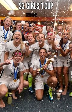 23 Girls 1 Cup. Team USA wins the 2015 FIFA Women's World Cup.