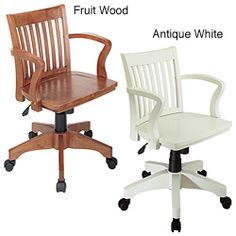 Office Star Deluxe Wood Bankers Chair By Office Star Products