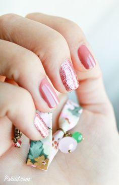 Pink Glitters w/ Butter London & Bourjois