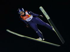 Sochi 2014 Day 5 - Ski Jump Ladies' Normal Hill Individual Final (Carina Vogt of Germany Gold Medalist)