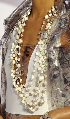 Chanel RTW Spring 2012 Shell Bags, Sea Urchin Heels, and Shell Jewelry-  oo la la...