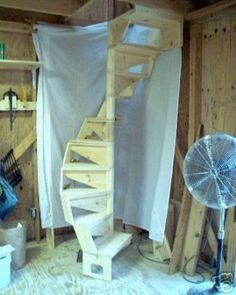 Spiral Staircase Possible With X Opening? – Building & Construction – DI… Spiral Staircase Possible With X Opening? – Building & Construction – DIY Chatroom – DIY Home Improvement Forum Tiny House Stairs, Loft Stairs, Basement Stairs, Home Improvement Projects, Home Projects, Spiral Staircase Kits, Home Renovation, Building A House, House Design