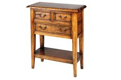 Mango Wood Village Big Telephone Table. Available to order online today at www.homewoodinteriors.co.uk