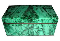 Need this antique 19th-C. Russian Malachite Box!