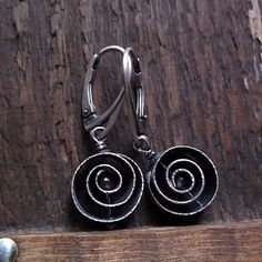 GARNET INSIDE, garnet gemstone, sterling silver, silver spiral bead, silver earrings by pieceofmysoulArt on Etsy