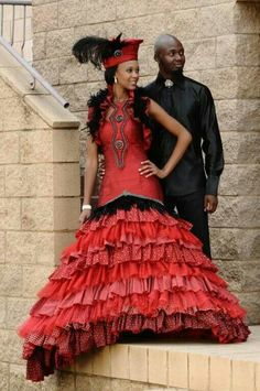 Beautiful pictures african traditional wedding dresses that inspire us Sotho Traditional Dresses, South African Traditional Dresses, Traditional Wedding Dresses, Traditional Weddings, Korean Traditional, Traditional Outfits, African Wedding Dress, African Print Dresses, African Dress