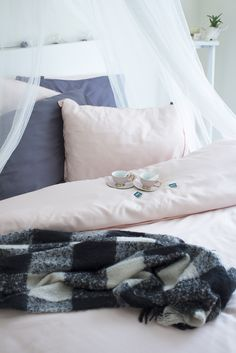 Featuring our Cloud Pink Duvet Cover and Frankie Pillow Case set.