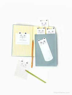 Cat Bookmarks | Mr Printables